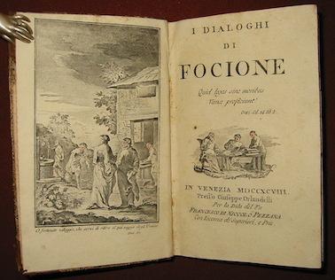 Gabriel Bonnot, de Mably I Dialoghi di Focione 1798 in Venezia presso Giuseppe Orlandelli