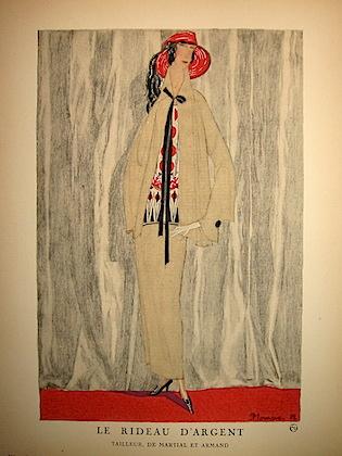 Le rideau d'argent. Tailleur, de Martial et Armand 1922 Parigi
