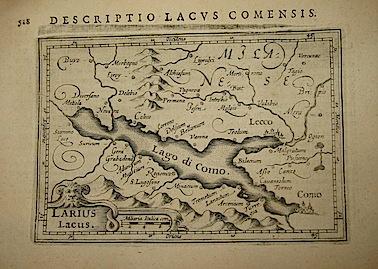 Bertius Petrus Larius lacus 1616 Amsterdam