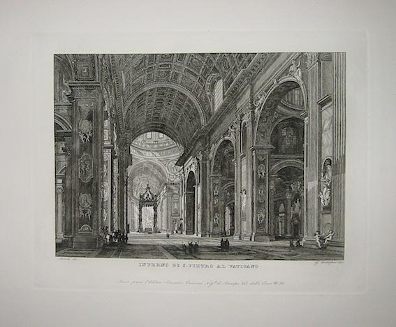 Cottafavi Gaetano (attivo nella prima metà  del XIX Secolo) Interno di S. Pietro al Vaticano 1843 Roma