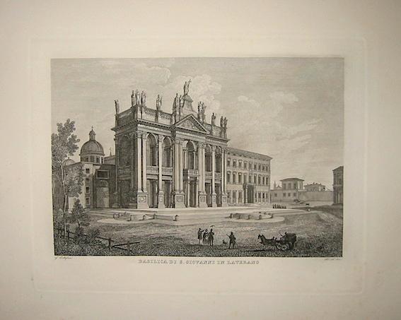 Cottafavi Gaetano (attivo nella prima metà  del XIX Secolo) Basilica di S. Giovanni in Laterano 1843 Roma