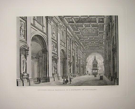 Cottafavi Gaetano (attivo nella prima metà  del XIX Secolo) Interno della Basilica di S. Giovanni in Laterano 1843 Roma