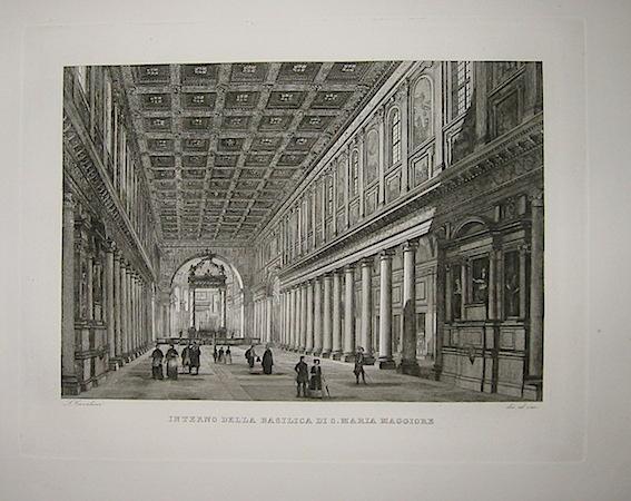 Cottafavi Gaetano (attivo nella prima metà  del XIX Secolo) Interno della Basilica di S. Maria Maggiore 1843 Roma