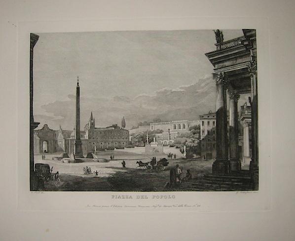 Cottafavi Gaetano (attivo nella prima metà del XIX Secolo) Piazza del Popolo 1843 Roma
