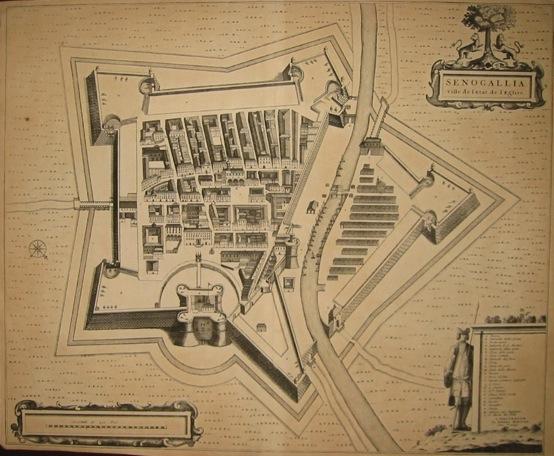 Mortier Pierre (1661-1711) Senogallia Ville de l'Etat de l'Eglise 1704 Amsterdam