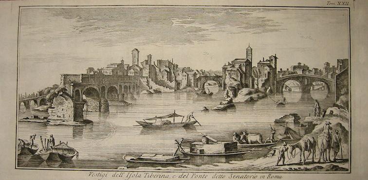 Salmon Thomas Vestigj dell'Isola Tiberina, e del Ponte detto Senatorio in Roma 1759 Venezia
