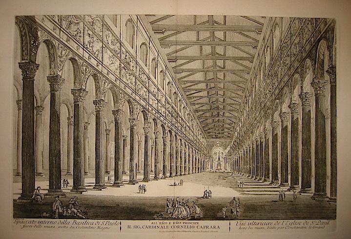 Barbault Jean (1718-1762) Spaccato interno della Basilica di S.Paolo fuori delle mura, eretta da Costantino Magno 1763 Roma