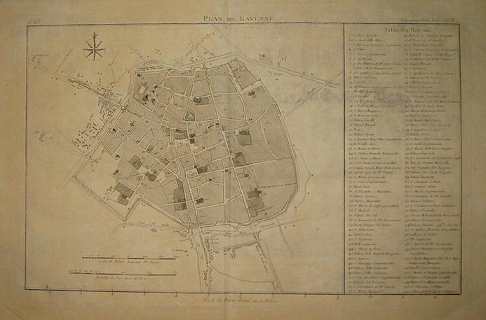 Lalande (de) Joseph Jerome Plan de Ravenne 1786 Parigi