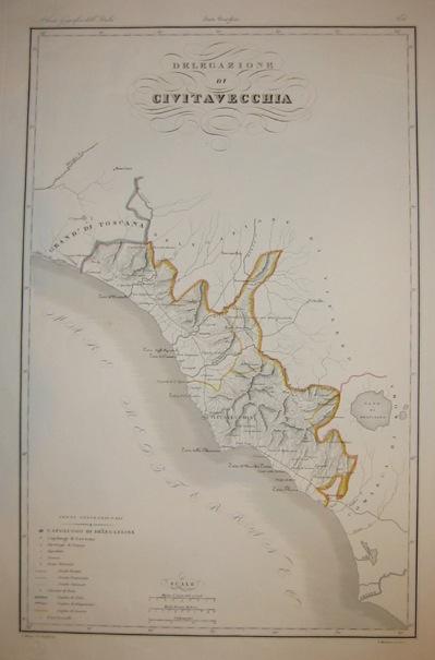Zuccagni-Orlandini Attilio (1784-1872) Delegazione di Civitavecchia 1844 Firenze