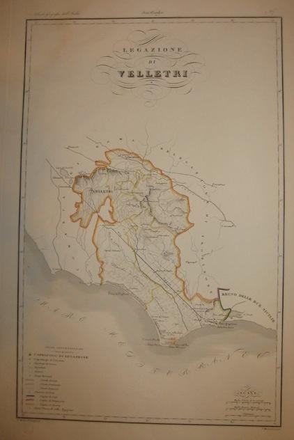 Zuccagni-Orlandini Attilio (1784-1872) Legazione di Velletri 1844 Firenze