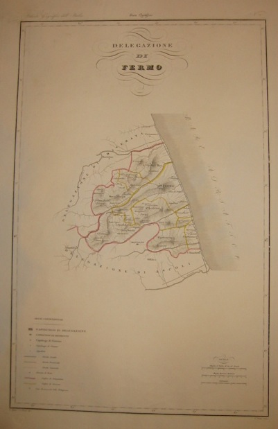 Zuccagni-Orlandini Attilio (1784-1872) Delegazione di Fermo 1844 Firenze