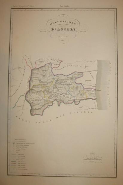 Zuccagni-Orlandini Attilio (1784-1872) Delegazione d'Ascoli 1844 Firenze