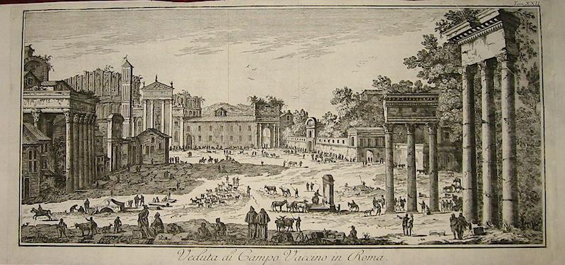 Salmon Thomas Veduta di Campo Vaccino in Roma 1759 Venezia