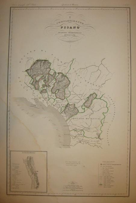 Zuccagni-Orlandini Attilio (1784-1872) Compartimento Pisano 1844 Firenze