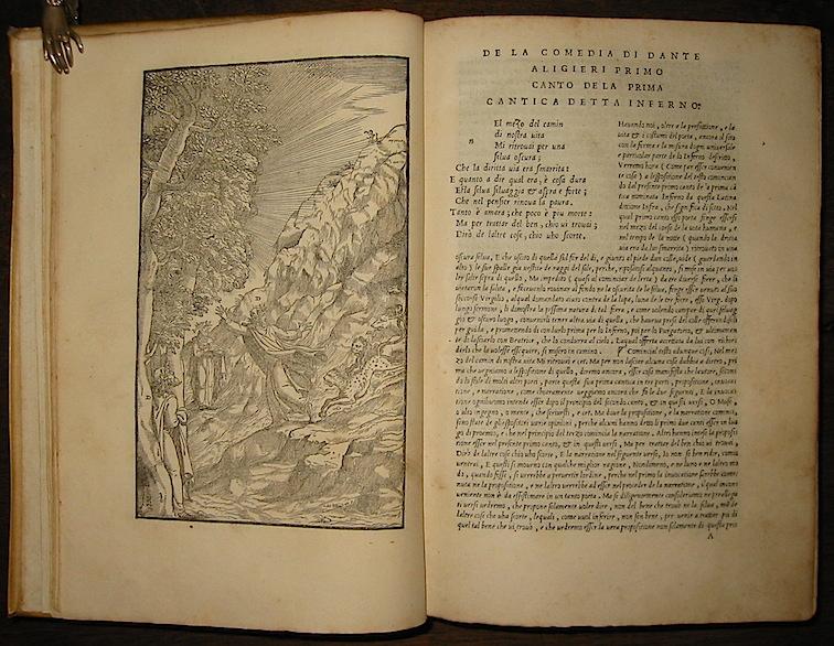 Alighieri Dante La Comedia di Dante Aligieri con la nova espositione di Alessandro Vellutello mese di Giugno anno MDXLIIII (1544) in Vinegia