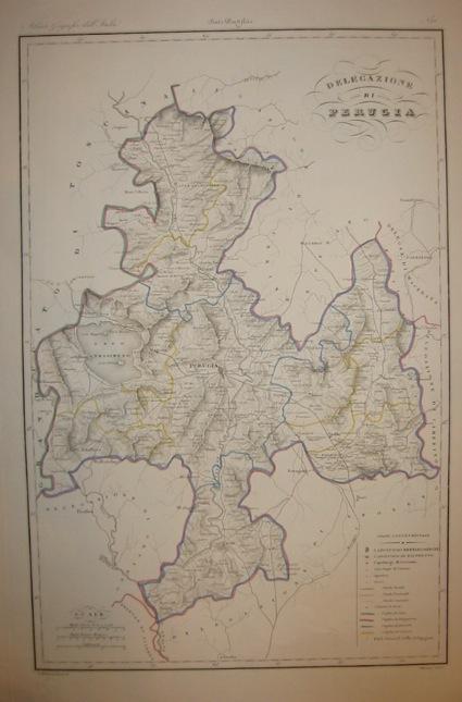 Zuccagni-Orlandini Attilio (1784-1872) Delegazione di Perugia 1844 Firenze