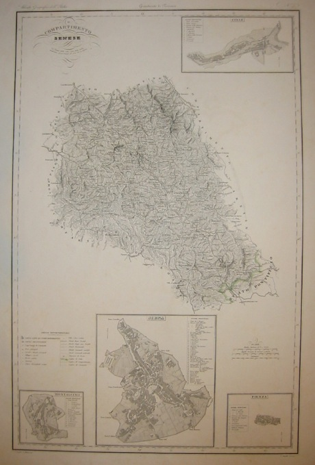 Zuccagni-Orlandini Attilio (1784-1872) Compartimento Senese 1844 Firenze