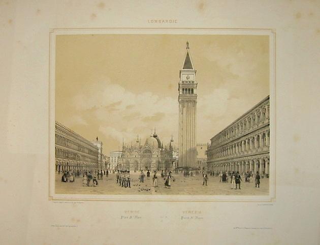 Benoist Philippe (1813-1880 ca.) Venise Place St. Marc. Venezia Piazza San Marco 1845 Parigi