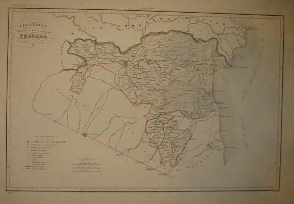 Zuccagni-Orlandini Attilio (1784-1872) Legazione di Ferrara 1844 Firenze