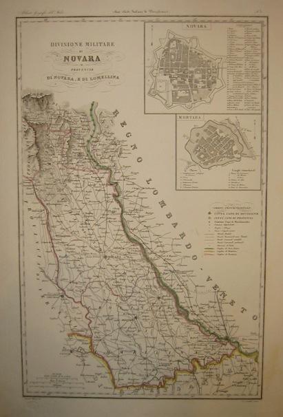 Zuccagni-Orlandini Attilio (1784-1872) Divisione militare di Novara. Provincie di Novara e di Lomellina 1844 Firenze