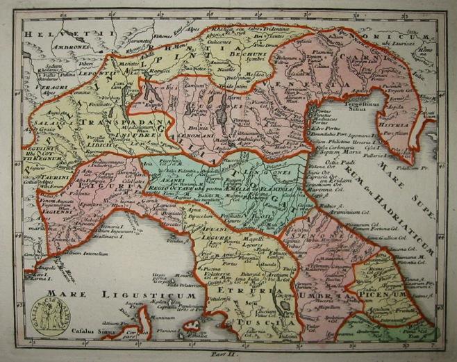 Weigel Christoph Gallia cisalpina 1730 Norimberga