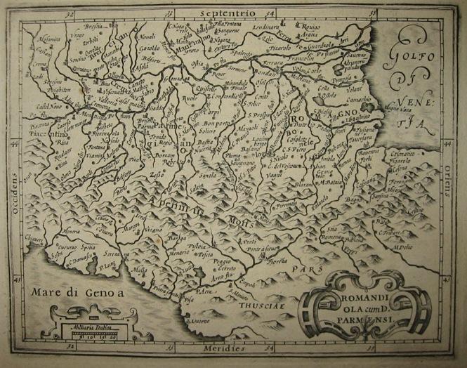 Mercator Gerard - Hondius Jodocus Romandiola cum D. Parmensi 1610 Amsterdam