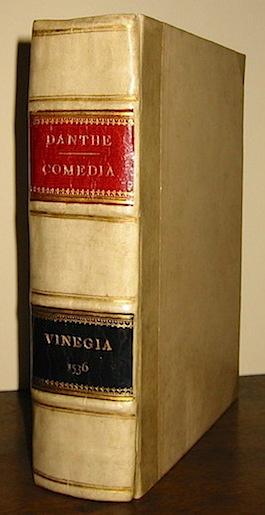 Alighieri  Dante Comedia del divino poeta Danthe Alighieri, con la dotta & leggiadra spositione di Christophoro Landino: con somma diligentia & accuratissimo studio nuovamente corretta, & emendata: da infiniti errori purgata, ac etiandio di utilissime postille ornata. Aggiuntavi di nuovo una copiosissima Tavola con le storie, favole, sententie, & le cose memorabili & degne di annotatione che in tutta l'opera si ritrovano 1536 (al colophon, in Vineggia per M. Bernardino Stagnino) in Vinegia