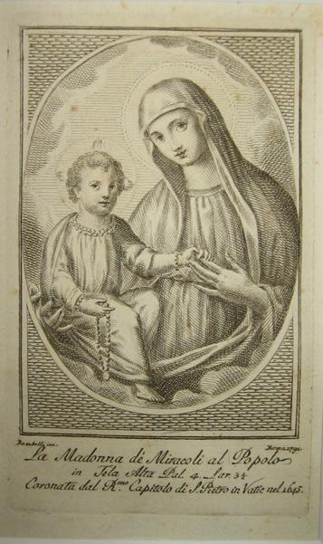 Bombelli P. La Madonna de' Miracoli al Popolo 1791 Roma